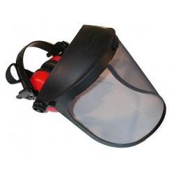 Visiere protection grillagée + oreillettes anti-bruit